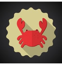 Summer travel sea crab flat icon vector