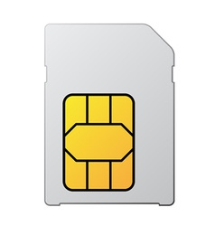 White blank sim card vector