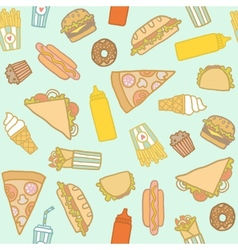 Fastfood pattern vector