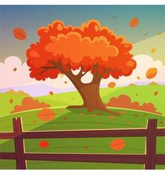 The autumn tree vector