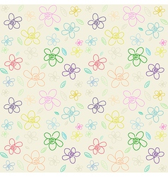 Flower pattern color 01 vector