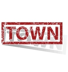 Town outlined stamp vector