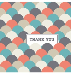 Thank you card circle japanese background vector