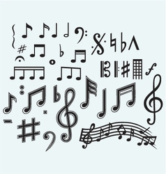 Various musical notes vector