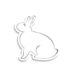 Easter greeting rabbit isolated on white vector