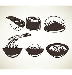 Japan food vector