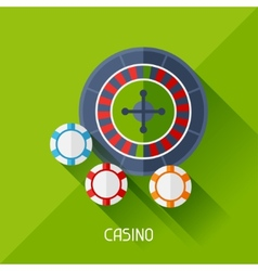Game with casino in flat design style vector