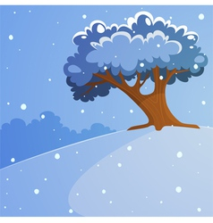 Tree on the hill vector