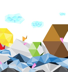 Abstract art polygon background vector