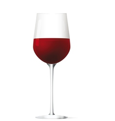 Red vine glass vector