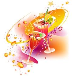 Rainbow party drinks vector