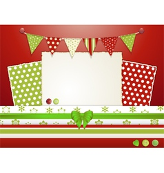 Christmas scrapbooking layout vector