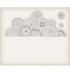 Circles doodle vector