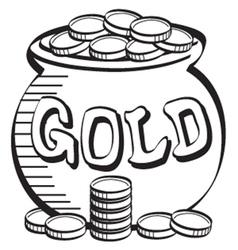Pot of gold vector