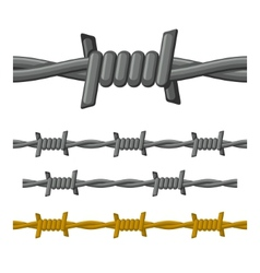 Barbed wire seamless set vector