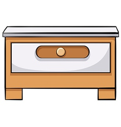 Wooden drawer vector