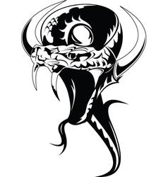 Snake tattoo vector