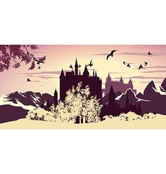 Beautiful ancient castle vector