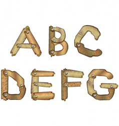 Wooden letters vector