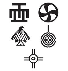 American indian symbols vector