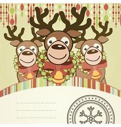Christmas background card vector