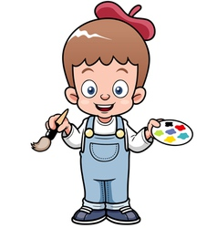 Boy artist vector