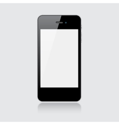 Black smartphone vector