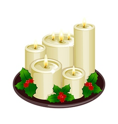 A view of candles vector