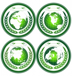 Eco globes vector