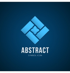 Abstract concept symbol icon or logo template vector