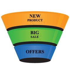 3d cone shape business growth banner icon vector