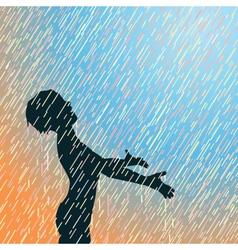 Happy rain vector