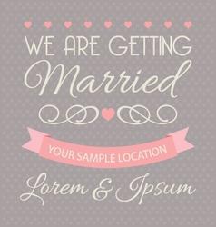 Wedding invitation card template vector