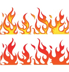 Fiery flames banner vector