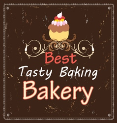 Advertising bakeries and cake vector