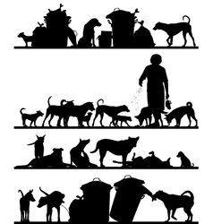 Street dog foregrounds vector