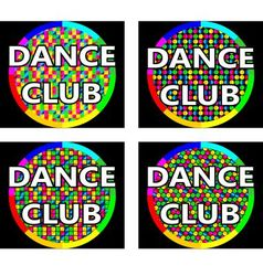 Dance club logo concept vector