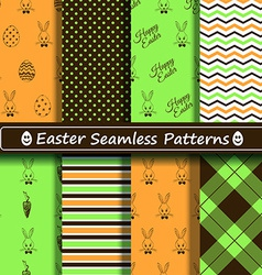 Set of scrapbook easter seamless patterns vector