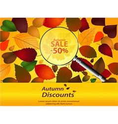 Autumn discounts landscape vector