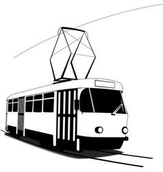 Classic czech tramway vector