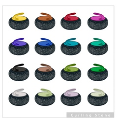 Set of curling stone on white background vector