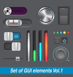 Set of gui elements vector