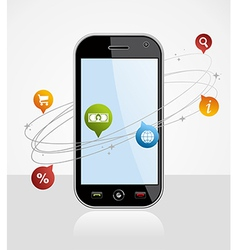 Smartphone connection application vector