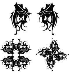 Graphic design tribal tattoo vector