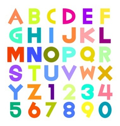 Colorful alphabet vector