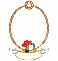 Cowboy rope frame vector