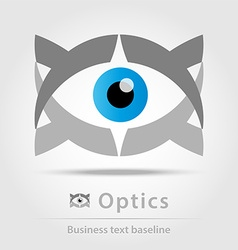 Optics business icon vector