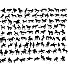 100 horses vector
