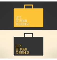 Business text background on a suitcase sign vector
