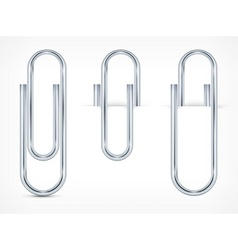 Metallic clips on paper sheet vector